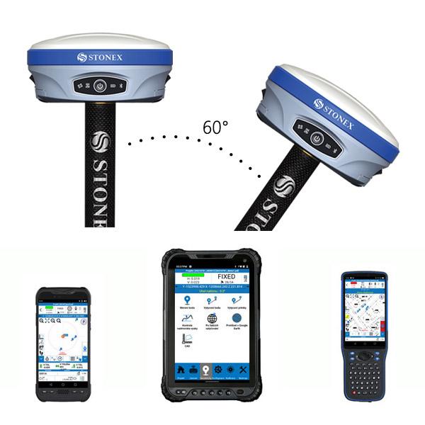 GNSS Stonex S900A IMU -val és vezérlőegységgel - teljes készlet